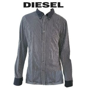 Black and white striped Casual Shirt Diesel